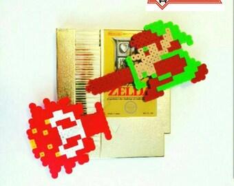 Legend of Zelda NES Retro Videogame Link & Octorok Magnet Set: Choose from Red or Blue Octorok
