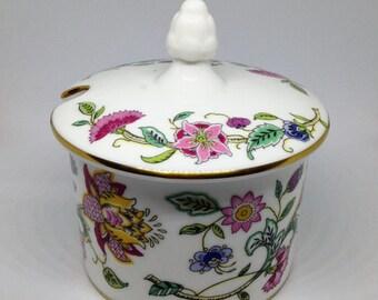 "Minton ""Haddon Hall"" Jam Pot, Preserves Pot, Minton Sugar Bowl, English Bone China Sugar Bowl"