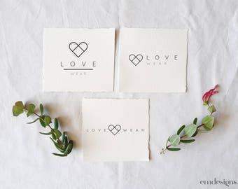 Premade Logo, Minimalist Design, Simple branding, Logo design, Business Logo, Custom Logo, Premade logo design, Feminine Logo, Heart logo