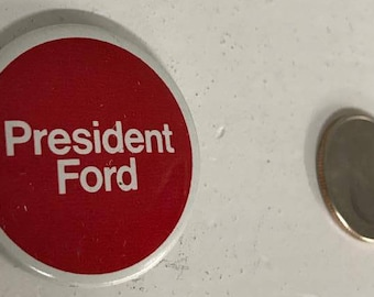 President Ford-Election Pin-Political Button from 1970's California-Great Condition!