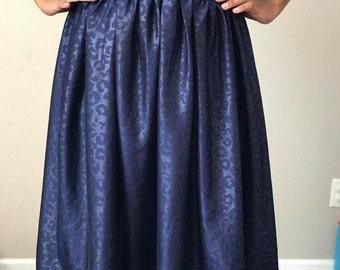 JW Dressy Modest Full Knee-Legnth Skirt w/ Elastic Waist