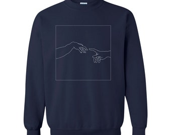 The Creation of Adam Art History Illustrated Sweatshirt