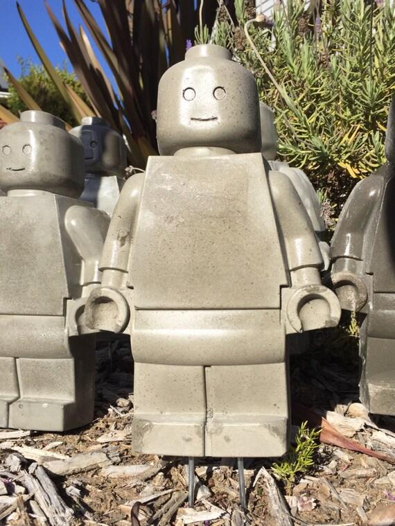 Extra Large Concrete Toy Robot Mold Man Garden Gnome On Garden