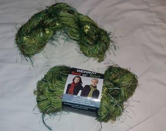 SAVE 10% NOW - Bernat Knit or Knot yarn in Glitter Green