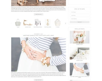 "WordPress Theme // Genesis Child Theme // ""Isabelle"""