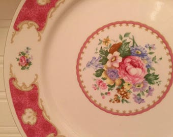 Set of Pink Shabby Chic China Plates