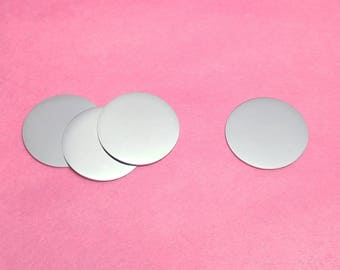 """1-1/2"""" Stainless Steel Round Blanks, Finished Blanks, Mirror Finish on Both Sides, Stamping Blanks, Circle Blanks, Disc Blanks"""