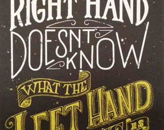 The right hand doesn't know what the left hand is doing