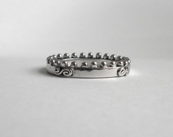 sterling silver ring crown etsy uk