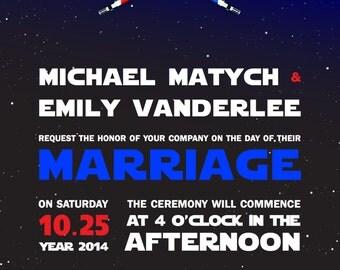 Star Wars Wedding Invitation | Star Wars | Digital File