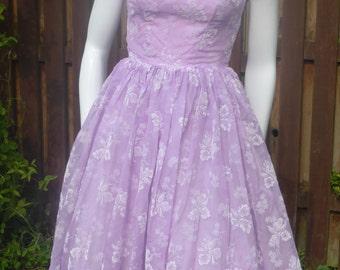Original 1950's lavander/purple party dress