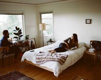 Simple Oak Bed