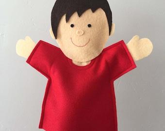 Ready-Made Joy Boy Puppet   Joy School   Hand Puppet   Felt Puppet