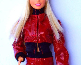 Barbie clothes - jasket, skirt, hat, Fashion Royalty doll clothes