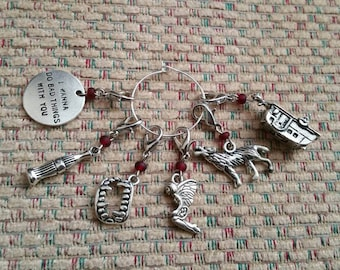 Sookie Stackhouse Books True Blood TV Show Inspired Progress Keeper Stitch Marker set for Crochet and Knit PKS114