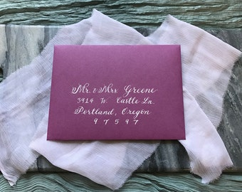 Custom Calligraphy Envelope Addressing A7, Wedding Envelopes, Custom Return Addresses