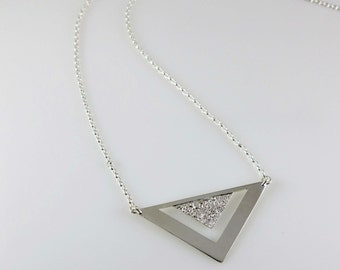 Triangle necklace / Silver jewelry / Handcrafted silver necklace