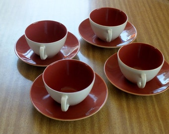 Poole Pottery - Coffee Cups (set of 4)