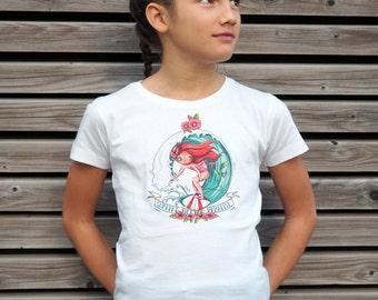 "T-shirt girl ""breizh Surfing paradise"""