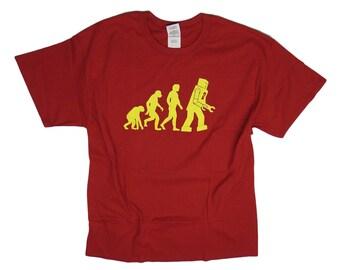S - 2XL > Big Bang Theory inspired T-Shirt Sheldon > ROBOT EVOLUTION