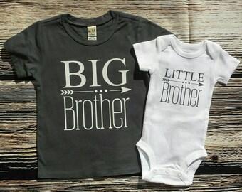 Big Brother/ Little sibling set, Big Brother shirt / little brother bodysuit, Big Brother shirt/ little sister bodysuit