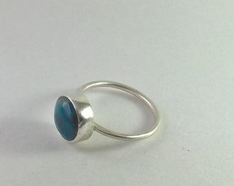 Larimar stacking ring