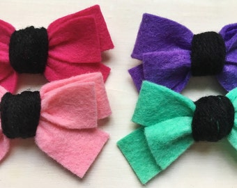 TWISTED : mini B R I X | felt bow | felt headband | WickedLittles