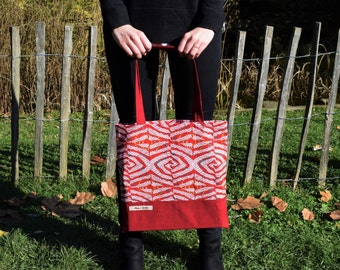 Tote Bag, Shopping Bag, Original African Fabric, cotton strap, available in various colors