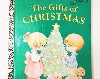 The Gifts of Christmas.  Little Golden Book.  FIRST EDITION.  Precious Moments.  Circa 1997.  Matt Mitter.  Sam Butcher.