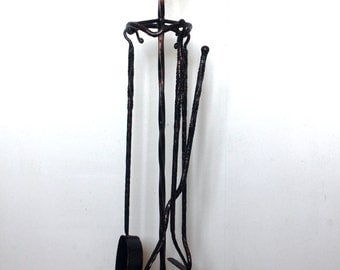 Hand forged fireplace tools. Fireplace Accessory.