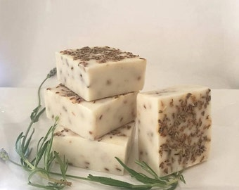 Lavender & Oatmeal Soap - Natural Soap, Handmade Soap, Essential Oil Soap