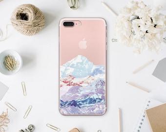 Mountains 7 iPhone Case iPhone 6 Plus Clear Case iPhone 6S Plus Cover iPhone X Phone 8 Case SE iPhone Phone Case 7 Plus iPhone 6 WA1080