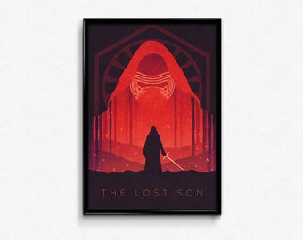 Star Wars The Force Awakens Kylo Ren Poster Print