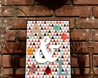 Multi-Colored Triangle Frame