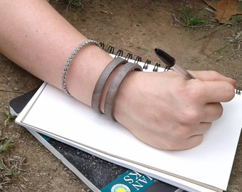 Leather bracelet, womens leather cuff bracelet, leather jewelry handmade in Nashville. Gifts for her and gifts for boyfriend.