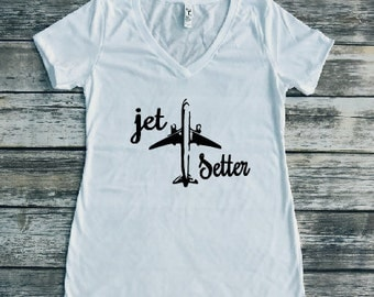 Jet Setter Shirt, Travel Shirt, Jet Shirt, Women's Fashion