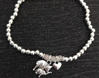 Mummy bracelet,miscarriage jewellery,baby loss gifts,Child loss gifts,miscarriage bracelet,remember me bracelet,mum gift,elephant bracelet