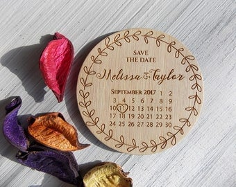 Save the Date Calendar | Wedding Save the Date Magnet | Rustic Wedding Calendar | Wood Save the Date | Wedding Announcement | Save-the-date