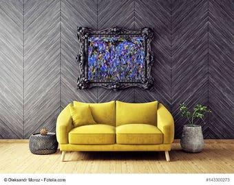 "Painting flowers series ""Midnight flower"" painting flowers series ""Midnight Flowers"""