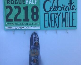 Race Medal Holder, Bib Holder, Wood Decor, Organizer, Runner