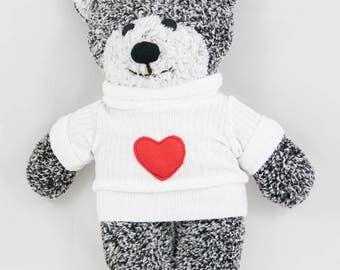Handmade Teddy bear, Plushie bear, Stuffed Teddy bear
