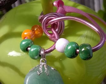 Gem stone beads and aventurine pendant