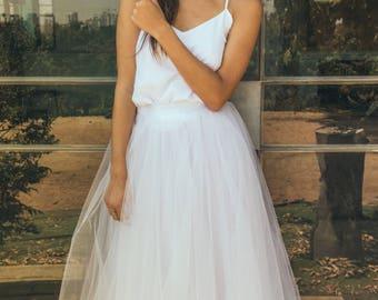Bridal separates skirt. Wedding skirt, Tulle skirt wedding dress, Wedding skirt tulle, Boho bridal, Tulle Wedding skirt, Water lily skirt