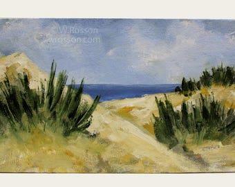 Beach, Dunes, Landscape Painting, Ocean, Beach House, Home Decor, Vacation, Summer, Original Painting, Winjimir, Office Art, Wall Art, Gift