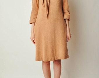 Vintage Camel Sweater Dress