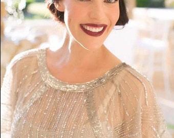 Great Gatsby Headpiece, Silver Swarovski Crystal Headband, Wedding Headpiece, Bridesmaids Hair Accessory, Crystal Headpiece, Prom Accessory