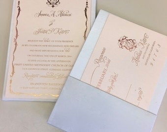 Invitation Silk Panel w/pocket