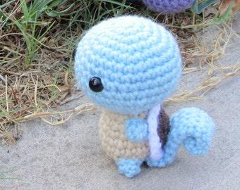 READY TO SHIP - Crochet - Chibi Pokemon Amigurumi - Squirtle. Turtle. Pokemon Plush. Pokemon Cosplay. Water Pokemon. Starter Pokemon. Anime.