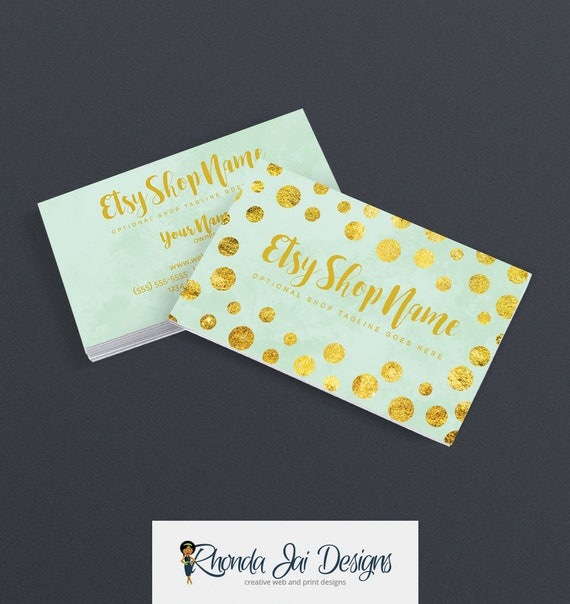 Business cards for etsy shop 2 sided printable business card like this item reheart Images