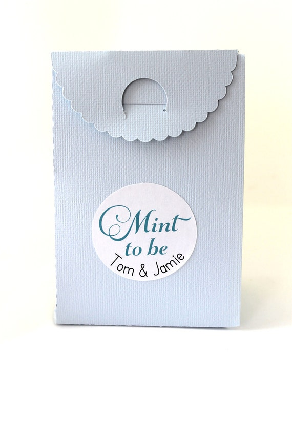 Mint to Be, Wedding Stickers, Wedding Favor Stickers, Wedding Favor Labels